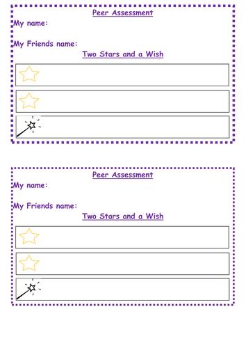 Peer Assessment Sheet Ks1-2
