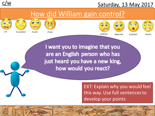 How did William deal with the problems as the new King of England?