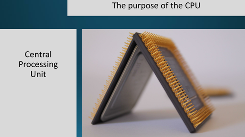 The purpose of the CPU Lesson GCSE Computer Science for OCR