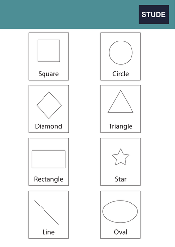 Shapes cards for KS1