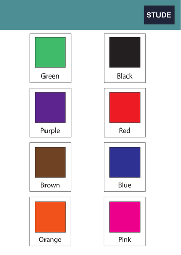 Colour match cards for KS1