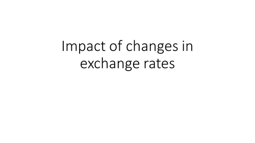 Exchange rates: GCSE Business for Edexcel (9-1) (1BS0)