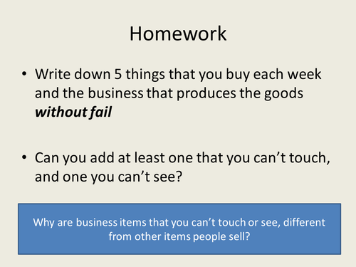The purpose of business: GCSE Business for Edexcel (9-1) (1BS0)