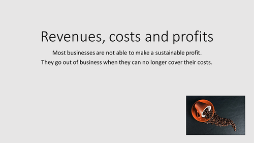 Costs, Revenue and Profit: GCSE Business for Edexcel (9-1) (1BS0)