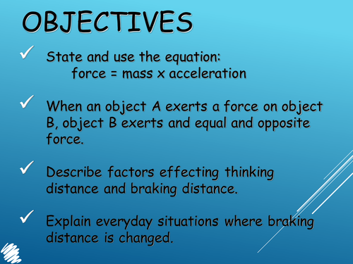 Forces and motion powerpoint GCSE