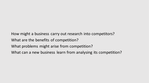 The competitive environment: GCSE Business for Edexcel (9-1) (1BS0)