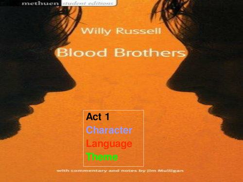 blood brothers act one on social