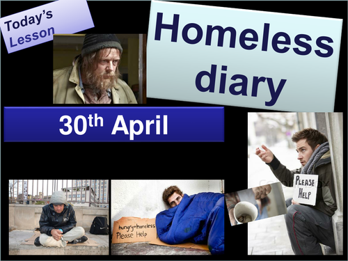 Creative writing: homeless diary KS3 KS4