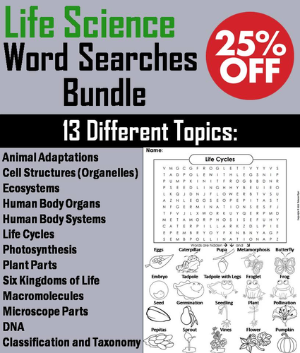 Life Science Word Search Bundle