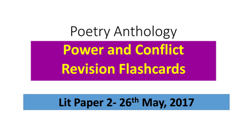 GCSE AQA Anthology Poetry revision