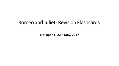 Romeo and Juliet revision and character/theme tracking booklet