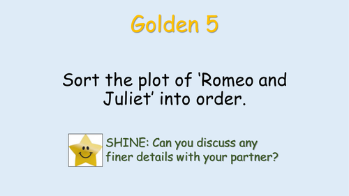 Three GCSE revision lessons for Shakespeare's Romeo and Juliet. AQA English Literature Paper 1