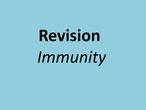 A level revision powerpoint and exam technique immunity