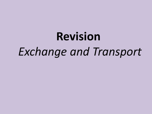 A level biology revision powepoint transport (diffusion, active transport, osmosis)