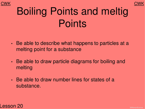 Boiling Points & melting Points