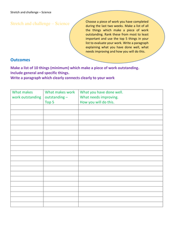 FREE with code MARVELLOUS-MAY Stretch and challenge - evaluate. single page science activity