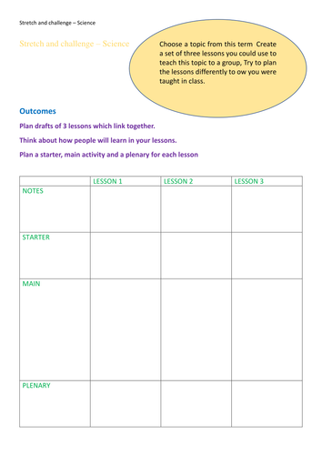 Free with code MARVELLOUS-MAY at checkout. Stretch and challenge generic science activity 1 page