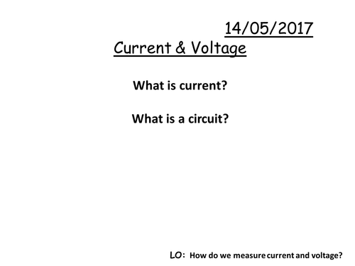 Current & Voltage PPT