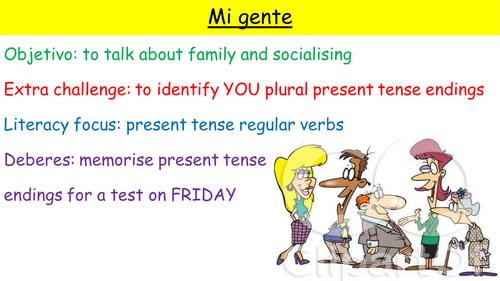Y10 SPANISH VIVA MODULE 3 MI GENTE: SOCIALISING AND FAMILY
