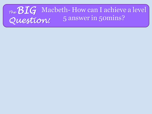 AQA Macbeth Extract Question Revision