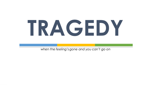 Understanding Tragedy - Tragic Terminology and Structure