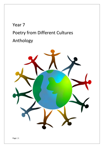 Poetry from Different Cultures plus writing scheme Year 7