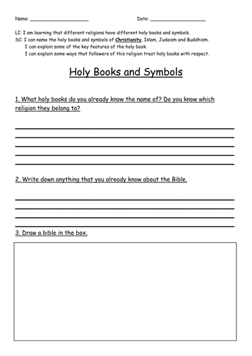 Holy Books and Symbols Comparison Study