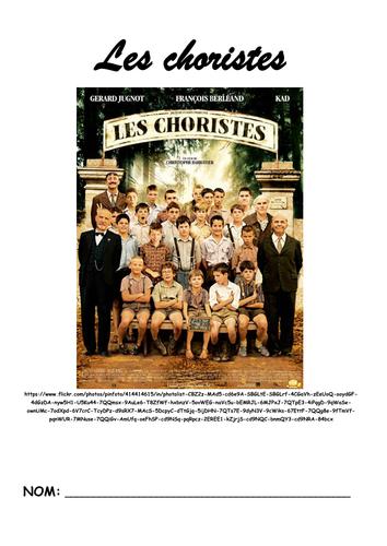 Les choristes activity booklet