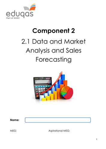 Data and Market Analysis and Sales Forecasting Workbook