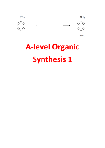 A-level Chemistry Organic Synthesis Questions 1 - with answers