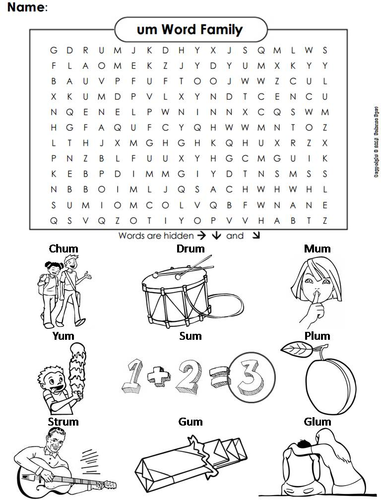 um Word Family Word Search