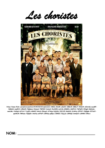 Les Choristes activity booklet and answers