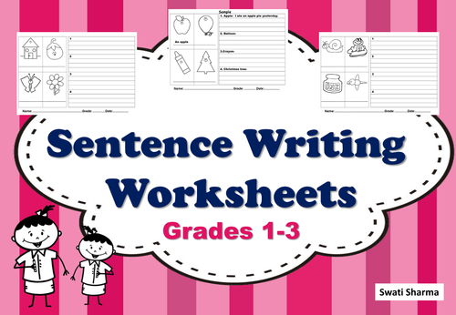 Sentence Writing for Grades 1 to 3