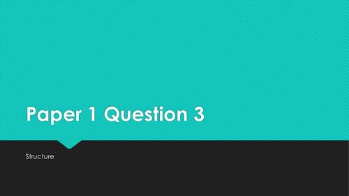 GCSE English Language: Paper 1 Question 3