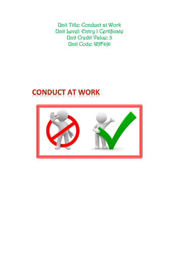 Conduct at Work Entry 1