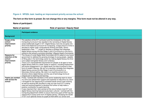 NPQSL (combined task) Leading ICT and digital literacy
