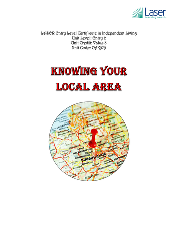 Entry 2 - Knowing what is in your local Area