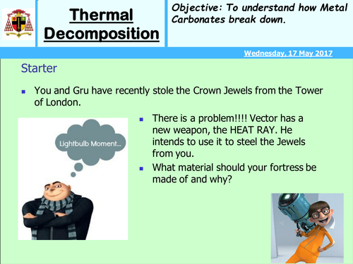 KS3 Thermal decomposition