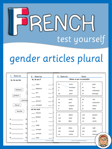 French test - gender, articles, plural