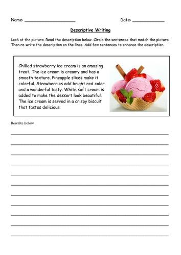 descriptive writing grade 5 worksheet 1 by famafata teaching resources. Black Bedroom Furniture Sets. Home Design Ideas
