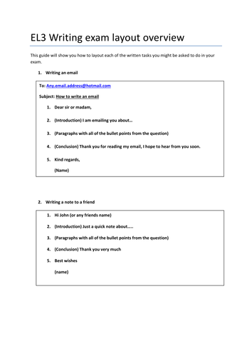 Entry Level 3 Functional Skills English Writing Revision