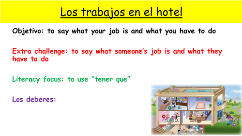 Y9 SPANISH VIVA MODULE 2: HOTEL CATASTROFE