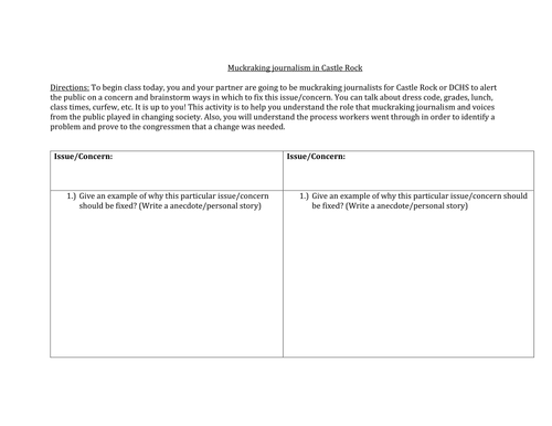 history Teacher by Day and By Night Shop Teaching Resources TES – Progressive Era Worksheet