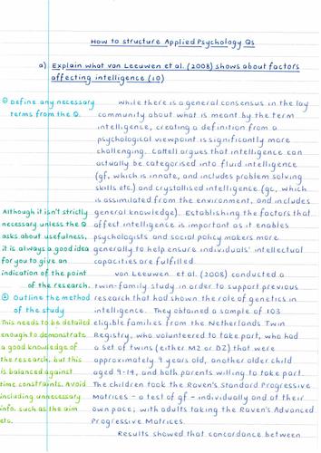 OCR Unit 3 Optional Topics - Child Model Answer