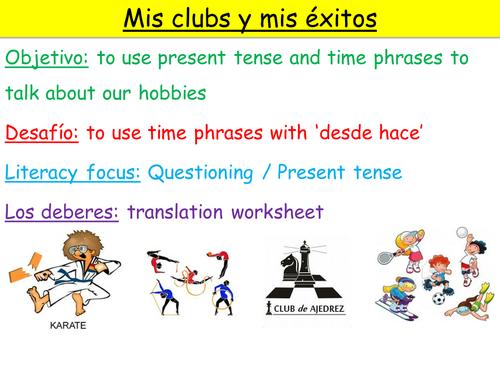 Y10 SPANISH VIVA MODULE 2: MIS CLUBS Y MIS EXITOS