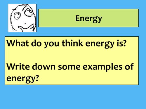 Lesson 1  - Energy