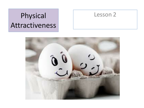 Paper 3 - Relationships - Physical Attractiveness AQA 'A'