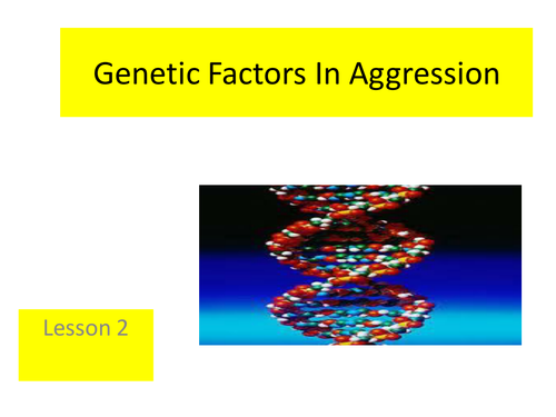 Paper 3 - Aggression - genetic factors lesson 2