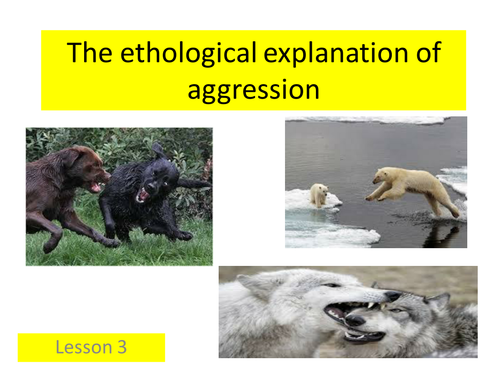 Paper 3 - The ethological explanation of aggression