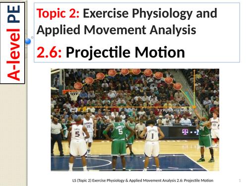 A-Level PE EDEXCEL (spec 2016) 2.6. Projectile Motion